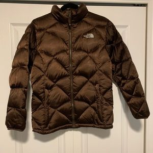 Girls' The North Face Coat (XL/Brown)